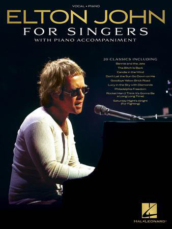 Elton John for Singers vocal sheet music cover