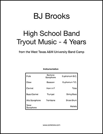 High School Band Audition Music