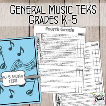 TEKS General Music Standards for K-5: Planning and Assessment