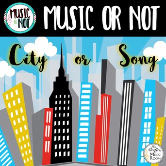 City or Song (Music or Not) Game