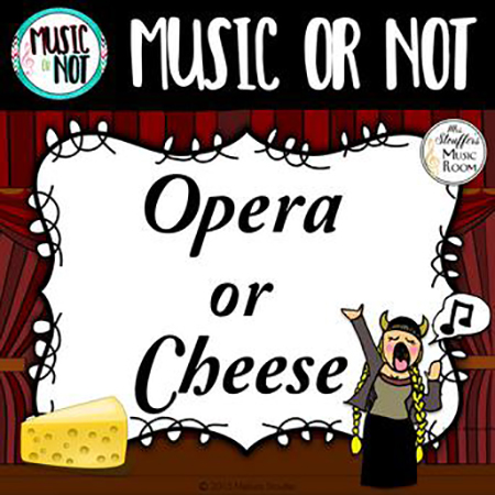 Opera or Cheese (Music or Not) Game