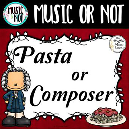 Pasta or Composer (Music or Not) Game