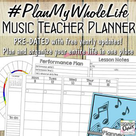 #PlanMyWholeLife Music Teacher Planner Thumbnail