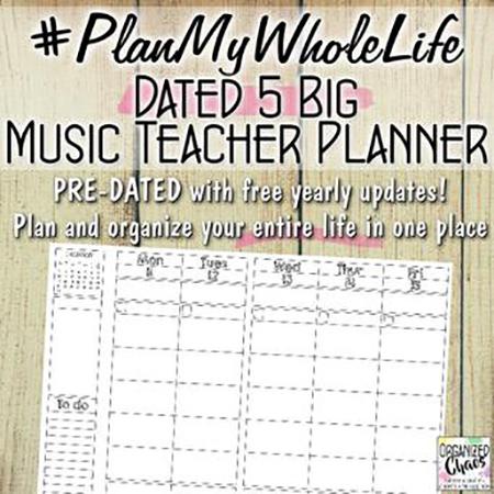 #PlanMyWholeLife Music Teacher Planner Thumbnail
