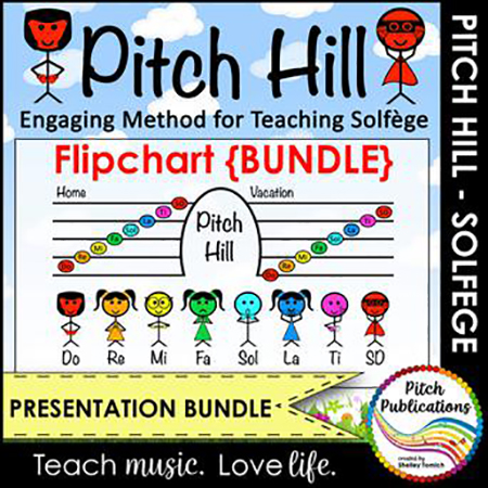Pitch Hill Solfege Method FlipChart Presentation Teaching Bundle