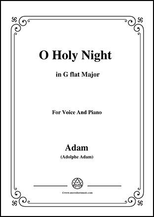 O Holy night in G flat Major
