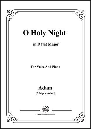 O Holy night in D flat Major