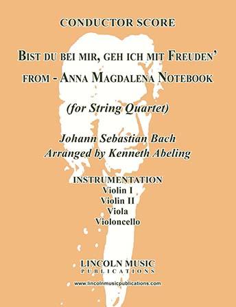 Bist du bei mir, geh ich mit Freuden' (for String Quartet)