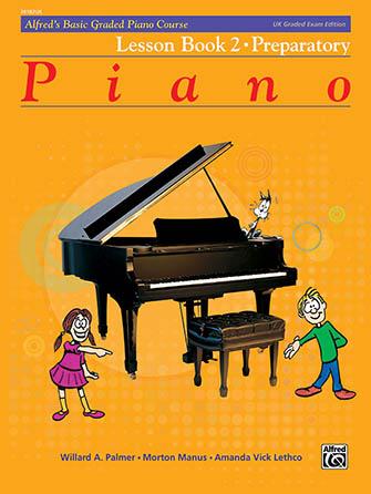 Alfred's Basic Graded Piano Course #2 Lesson Book Preparatory