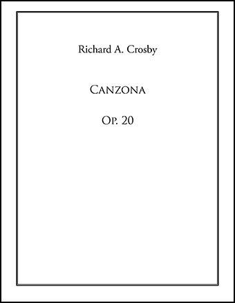 Canzona, Op. 20