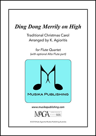 Ding Dong Merrily on High - Flute Quartet