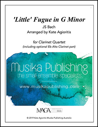 'Little' Fugue in G Minor - Clarinet Quartet