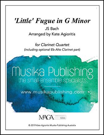 'Little' Fugue in G Minor - Clarinet Quartet