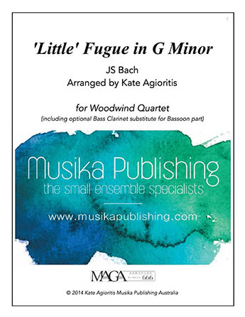 'Little' Fugue in G Minor - Woodwind Quartet