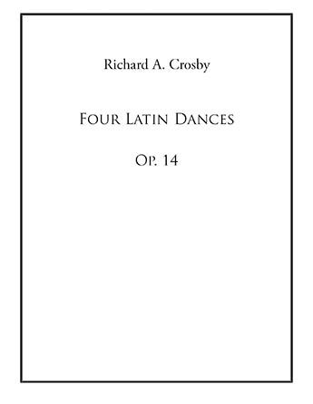 Four Latin Dances for Oboe and Piano, Op. 14