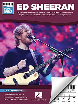 Super Easy Songbook Ed Sheeran Piano By Ed Sh J W Pepper