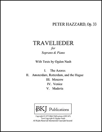 Travelieder for Soprano and Piano, Op. 33