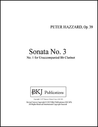 Sonata For Unaccompanied Clarinet, Op. 39