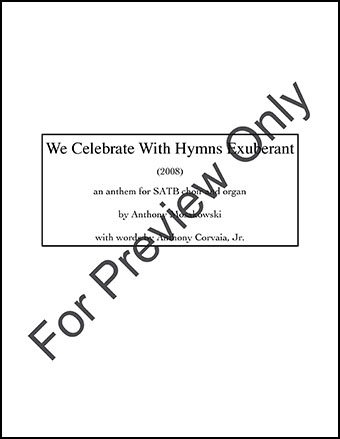 We Celebrate With Hymns Exuberant