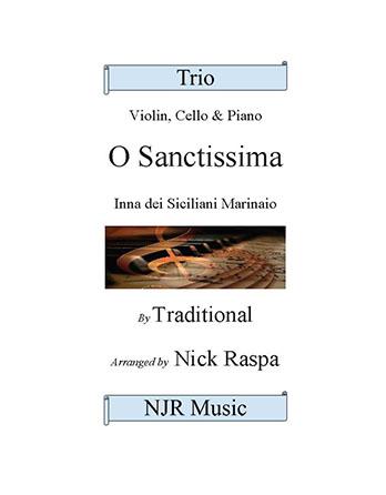 O Sanctissima - Piano Trio