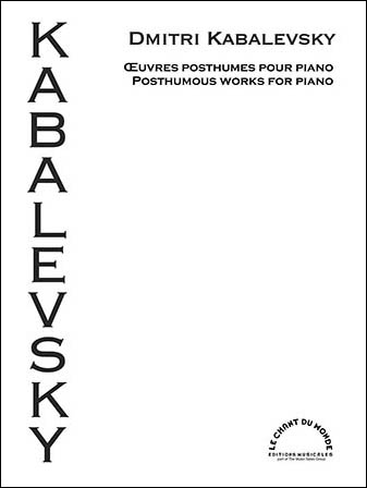 Posthumous Works for Piano
