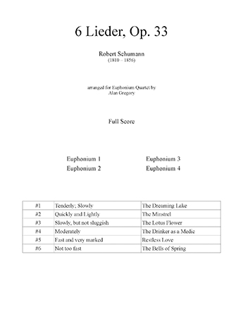 6 Lieder, Op. 33
