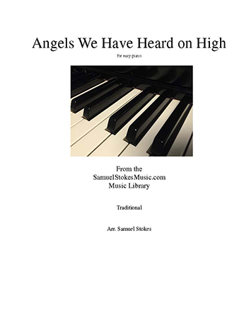 Angels We Have Heard on High - for easy piano