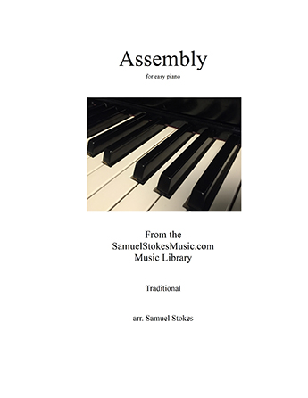 Assembly (bugle call) - for easy piano