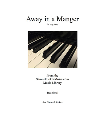 Away in a Manger - for easy piano