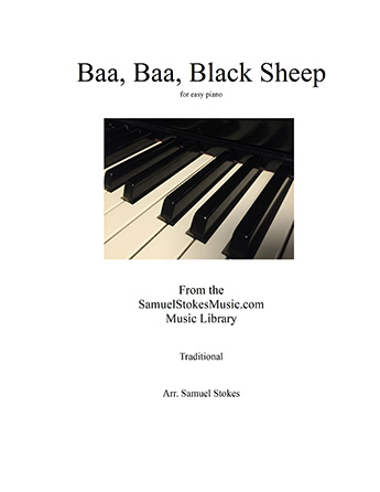 Baa, Baa, Black Sheep - for easy piano