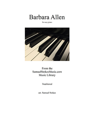 Barbara Allen - easy piano