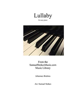 Brahms' Lullaby - for easy piano