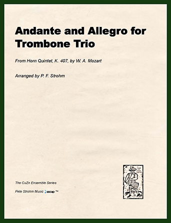 Andante and Allegro for Trombone   Trio