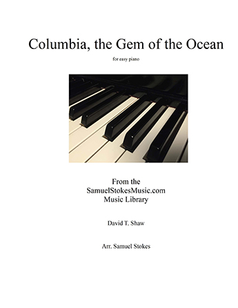 Columbia, the Gem of the Ocean - for easy piano