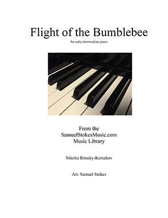 Flight of the Bumblebee - for early-intermediate piano
