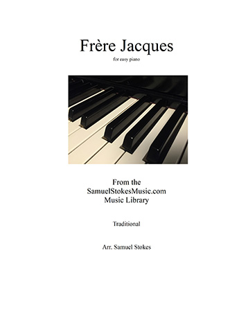 Frere Jacques (Are You Sleeping?) - for easy piano
