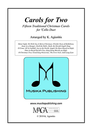 Carols for Two - Fifteen Carols for 'Cello Duet
