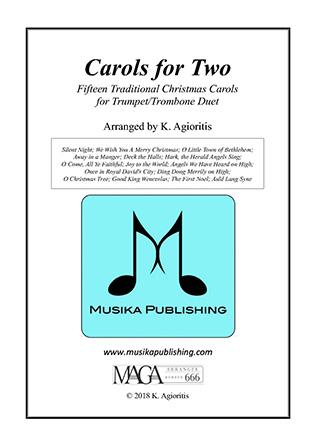Carols for Two - Fifteen Carols for Trumpet/Trombone Duet