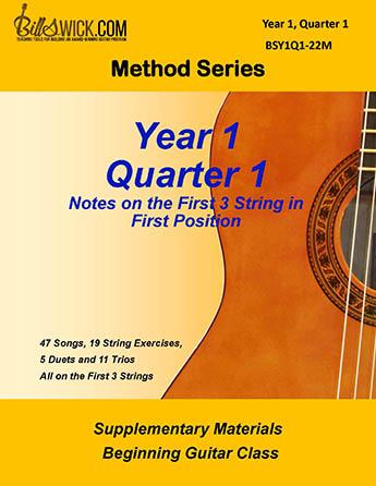 Bill Swick's Beginning Guitar Class Method - Quarter One