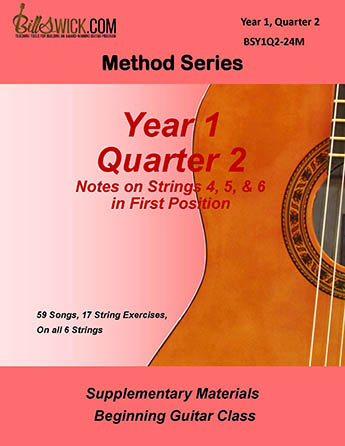 Bill Swick's Beginning Guitar Class Method - Quarter Two