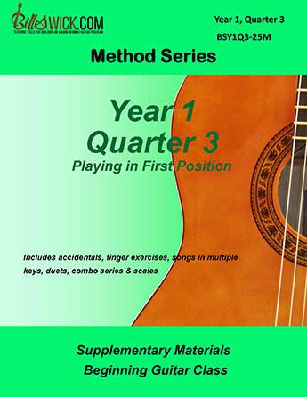 Bill Swick's Beginning Guitar Class Method - Quarter Three
