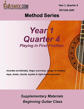 Bill Swick's Beginning Guitar Class Method - Quarter Four