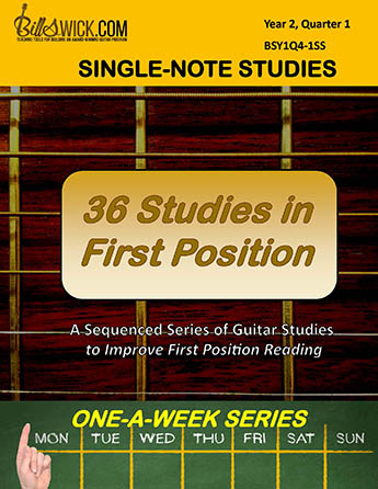 Bill Swick's 36 First-Position Studies