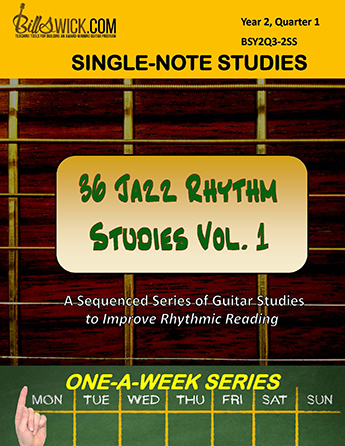 Bill Swick's 36 Jazz Rhythm Studies Vol 1