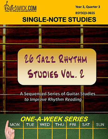 Bill Swick's 26 Jazz Rhythm Studies Vol 2
