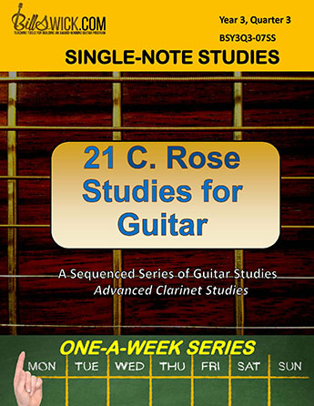 Bill Swick's C. Rose Studies for Guitar