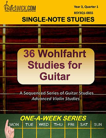 Bill Swick's 36 Wohlfahrt Studies for Guitar