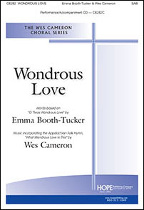 Wondrous Love church choir sheet music cover