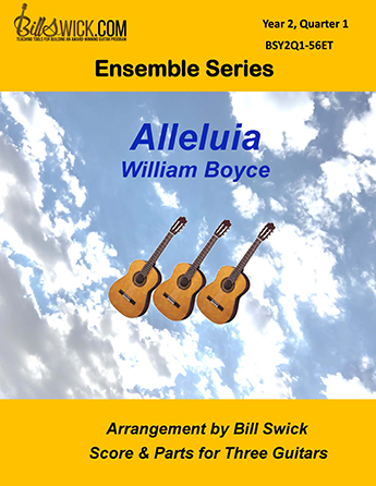 Bill Swick's Year 2, Quarter 1 - Intermediate Ensembles for Three Guitars