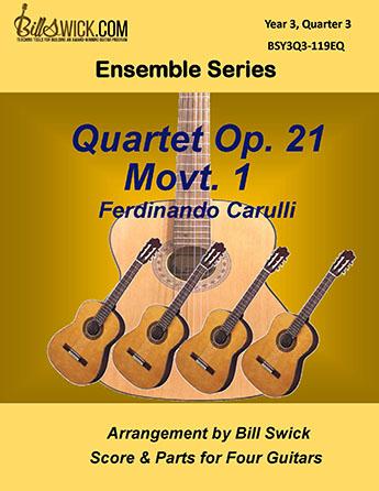 Bill Swick's Year 3, Quarter 3 - Advanced Ensembles for Quartets